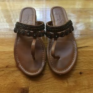 JESSICA SIMPSON brown slip on shoes