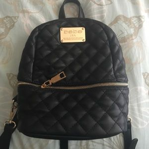 cd4155791589 bebe Bags - Authentic BEBE Danielle mini quilted backpack