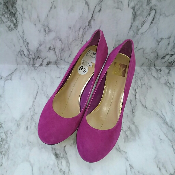 eb3ee46e3a3 Dolce Vita Shoes - DOLCE Vita Purple Suede Gold Block Heels Shoes