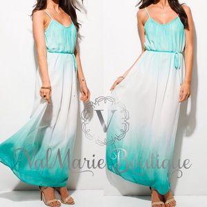 ValMarie Boutique LLC Dresses & Skirts - Oceanic Maxi Ombré Dress