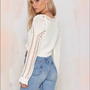 Cutout Knit Cropped Top