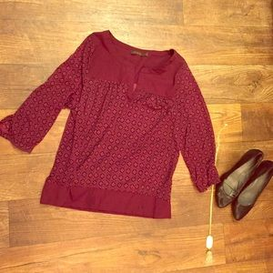 Limited maroon blouse! Lightweight and boho!