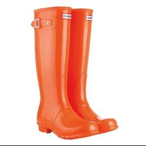 Hunter Original Tall Gloss Rubber Rain Boots 8