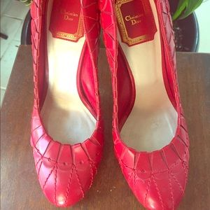 Christian Dior Shoes - Christian Dior Red Heels