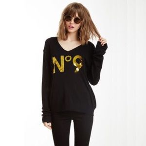 Wildfox No 9 Gold Sequin
