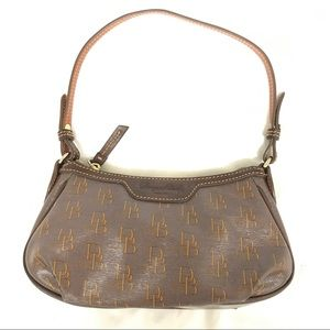 NWOT Dooney&Bourke Brown Gold Red Small Should Bag