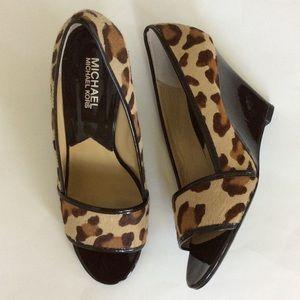 MICHAEL Michael Kors Shoes - MICHAEL Michael Kors Calf Hair Peep Toe Wedges