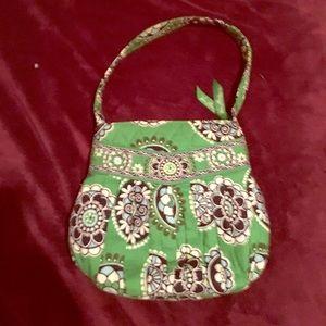 Vera Bradley Navy and Green small handbag.