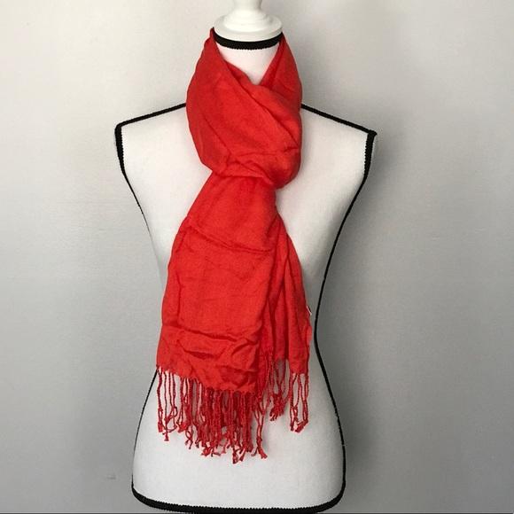 36 apt 9 accessories apt 9 orange scarf with