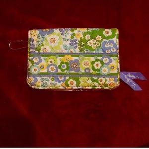 Vera Bradley Blue, yellow and Green wallet