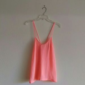 4 for $25! Zara Neon Orange Camisole Cross Back