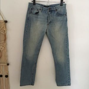 The Row Denim - The Row faded cropped straight leg jeans NWOT