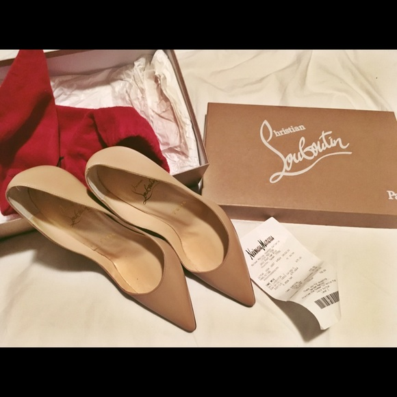 designer fashion eb75b 93619 Christian Louboutin Apostrophy 100mm 35 nude