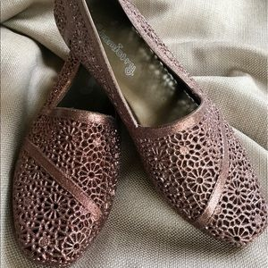 Shoes - Chemistry Bronze✨Glittered Jelly Slip-On Shoes🌸