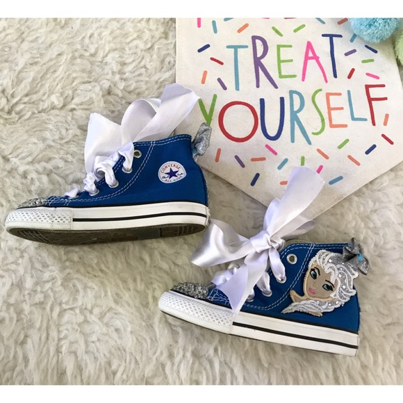ff7965b33e289c Converse Other - Customized Frozen ELSA Converse Bling Out Shoes