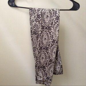Kardashian Kollection Pants - Black and Off white/Cream Leggings