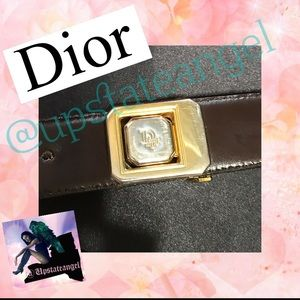 Dior Accessories - Christian Dior reversible leather logo belt