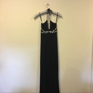 Sky Dresses & Skirts - NWT Sky black maxi dress with beaded detail