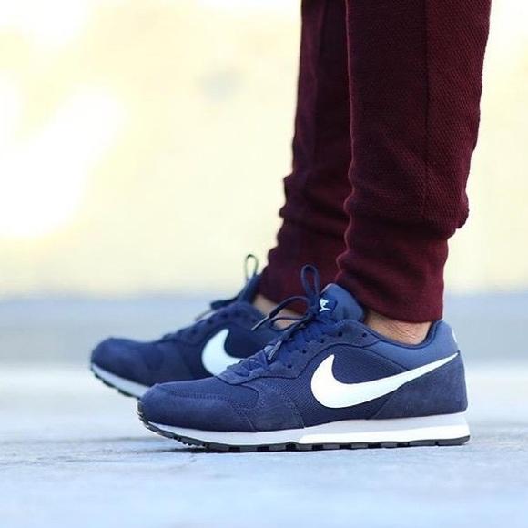 1f88e087959dd Nike MD Runner 2 Navy Blue Wolf Grey Sneakers