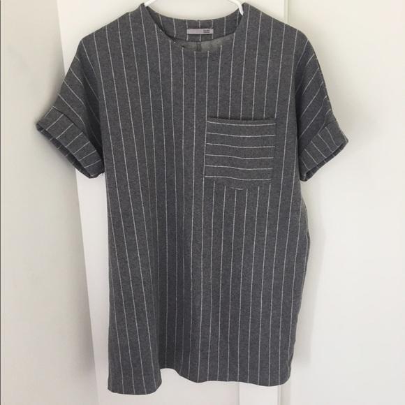 50 off zara dresses skirts zara grey and white for Zara black t shirt dress