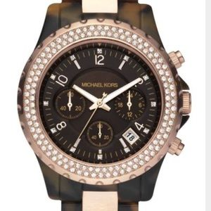 MICHAEL KORS TORTOISE WATCH W/ ROSE GOLD - MK5416