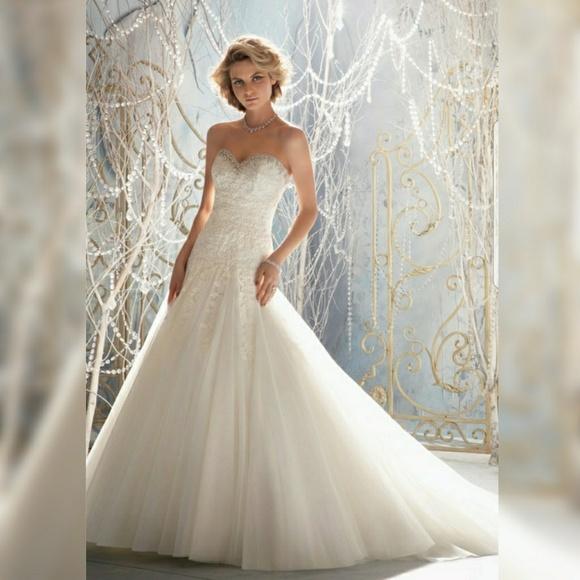 Mori Lee Wedding Gowns: Ivory Wedding Dress Strapless