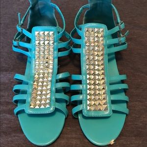 H&M Blue Studded Sandal