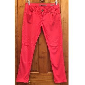 Zara Slim Fit Pants in Red Pre-loved 2