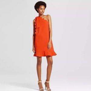 Clemson orange dress Victoria Beckham Target