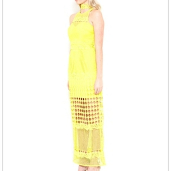 Lumier by bariano yellow dress