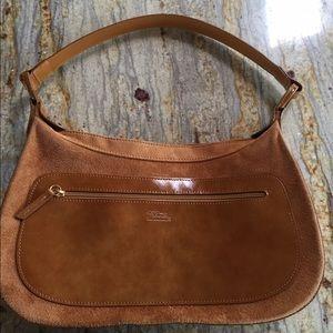"Longchamp Handbags - Longchamp velvet suede&leather handbag ""ANNIE"""