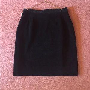 Kashima Kosaki Black Velvet Skirt