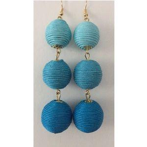 Jewelry - Blue ombré bon bon earrings NWT