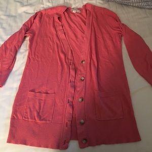 Small pink cardigan. Loft. GUC.