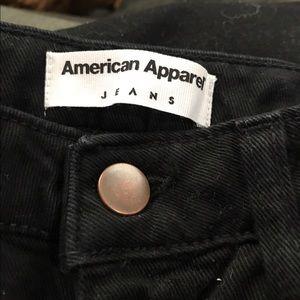 American apparel black straight pants