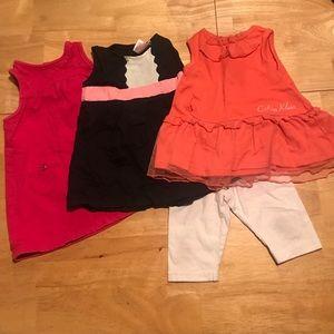 Other - 3-12 mo dresses w/interchangeable white leggings