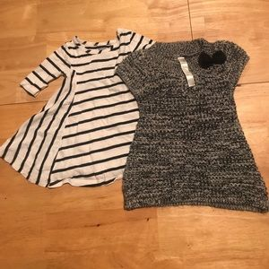 Other - 1 flare dress 1  blk/sil sweater dress