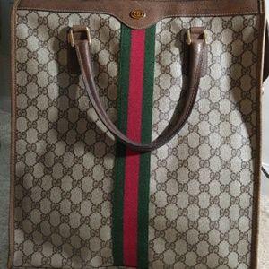 071591ffc Gucci Bags | Large Sherry Stripe Authentic Tote Shopper | Poshmark