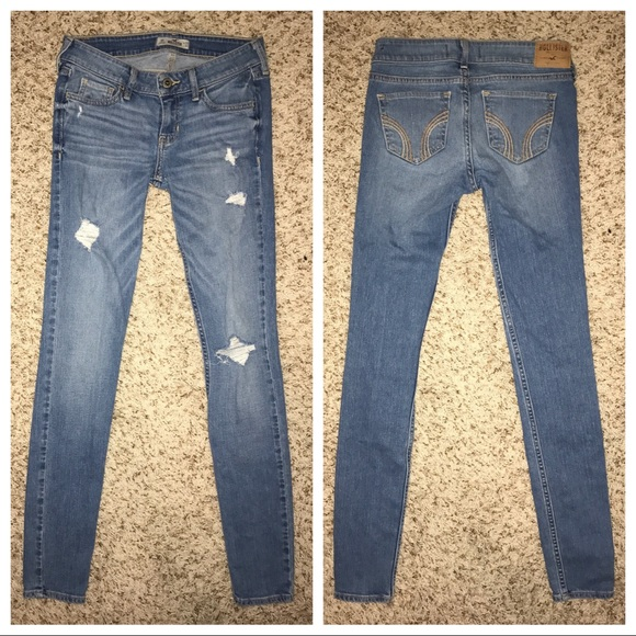 80% off Hollister Denim - Hollister Low-Rise Super Skinny ...