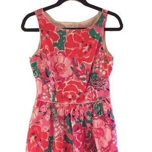 Lilly Pulitzer Size 6 Floral Fit and Flare Dress