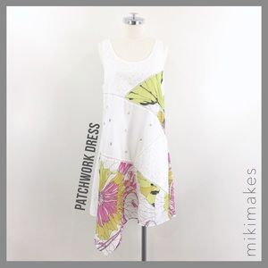 [ leifnotes ]  patchwork dress floral embroidered