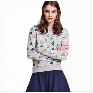 🆕 Emoji cat sweatshirt top