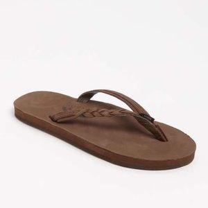 "Rainbow Shoes - Rainbow ""Flirty Braidy"" Sandals Classic Mocha NWOT"