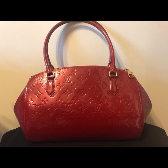 14251b674994 Louis Vuitton Handbags - Louis Vuitton Red Monogram Vernis Sherwood