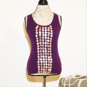 Tory Burch Tank Top with Embellishments