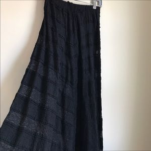 Tricia Fix Dresses & Skirts - Tricia Pure Fix Black Maxi Skirt Lace & Sheer
