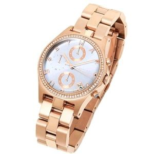 NWT! Marc Jacobs Rose Gold Henry Glitz Watch