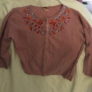 Free People beaded cardigan