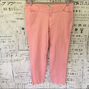 """Old Navy Pants - Old Navy the Diva """"Daisy Pant"""" in Fiji Pink dot 16"""