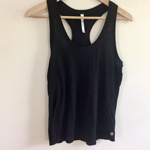 Fabletics Black Knit Racerback Tank Top Size SM